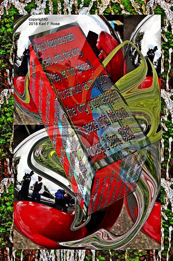 Church building cylinder abstract small planet as art with text as a box by Karl Rose
