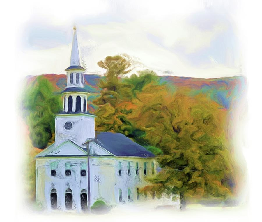 Church Digital Painting by Charles HALL