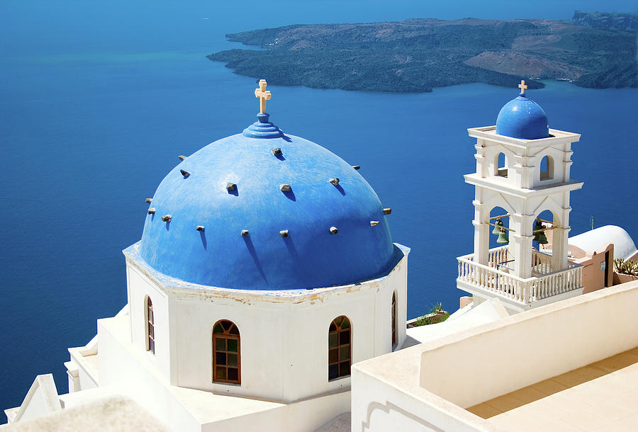 Church In Santorini, Greece Photograph by Angelika