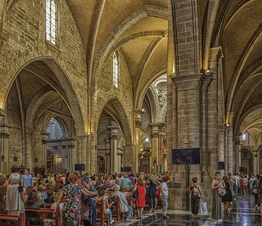 Church Interior in Valencia by Darryl Brooks