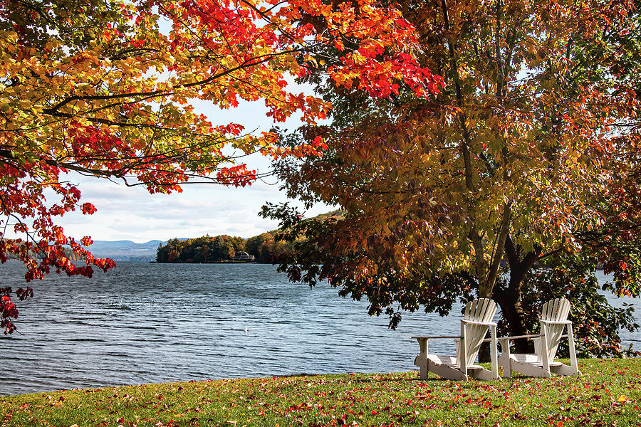 Church Landing chairs at the Lake by Jeff Folger