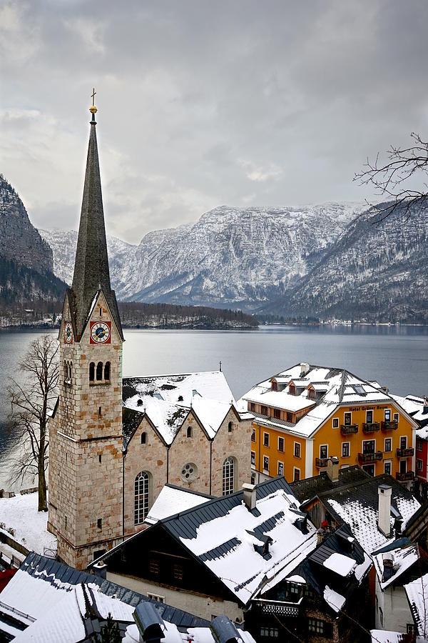 Church Photograph - Church of Hallstatt, Austria by Two Small Potatoes