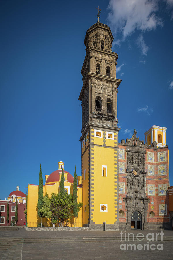 Baroque Photograph - Church Of San Francisco In Puebla by Inge Johnsson