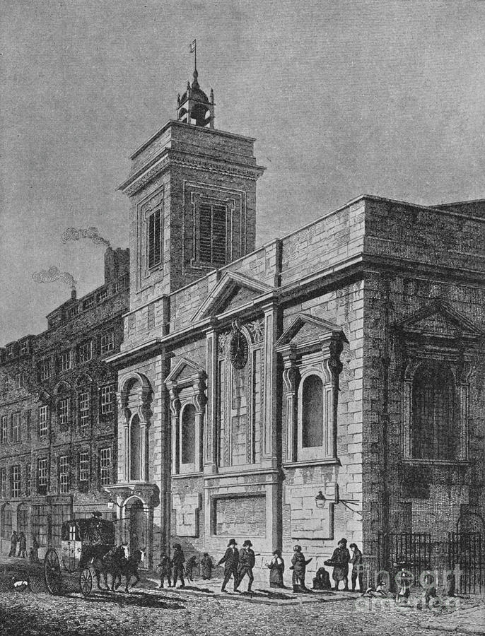 Church Of St Mildred, Poultry, City Drawing by Print Collector