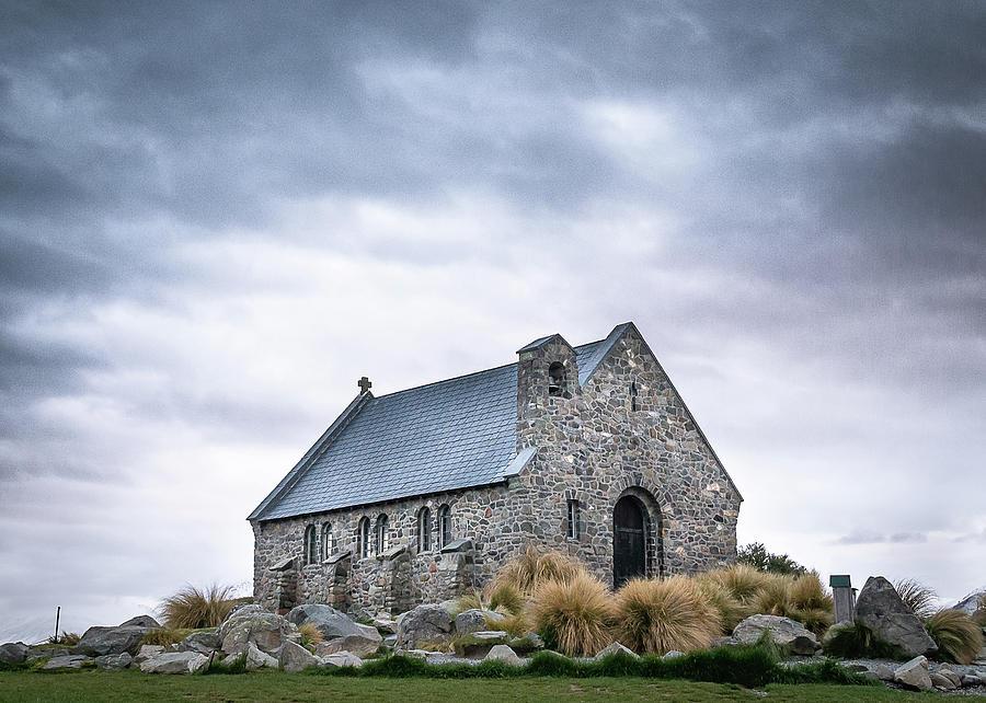 Church Of The Good Shepherd In New Zealands Lake Tekapo by Peter Kolejak