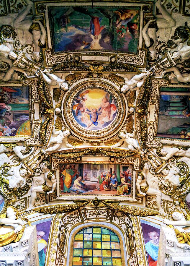 Church of the Santissima Trinita dei Monti Ceiling Style in Rome by John Rizzuto