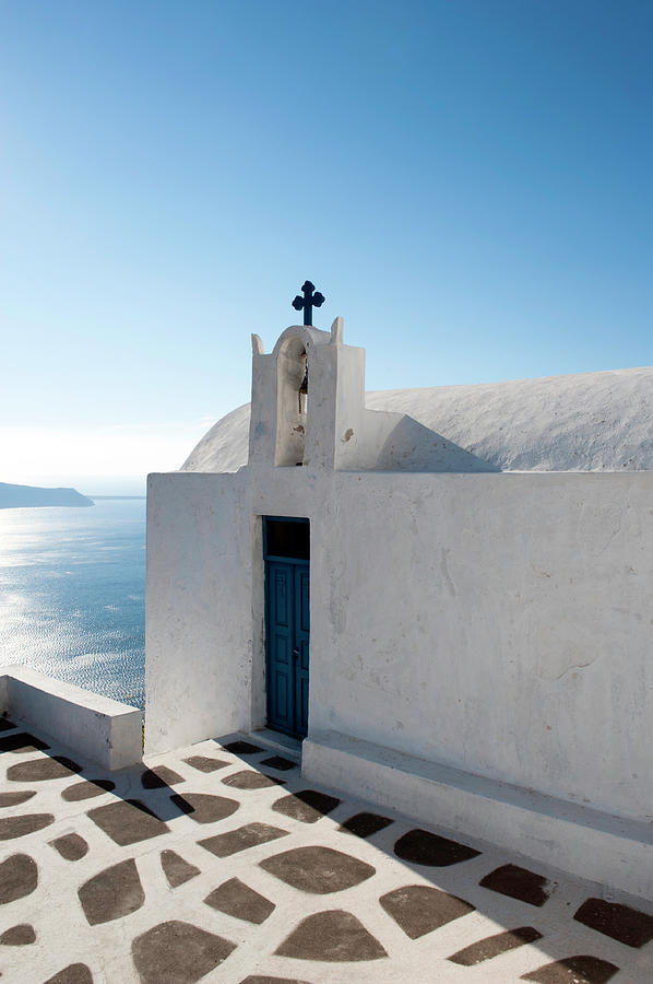 Church Of Worship In Santorini, Greece Photograph by Projectb