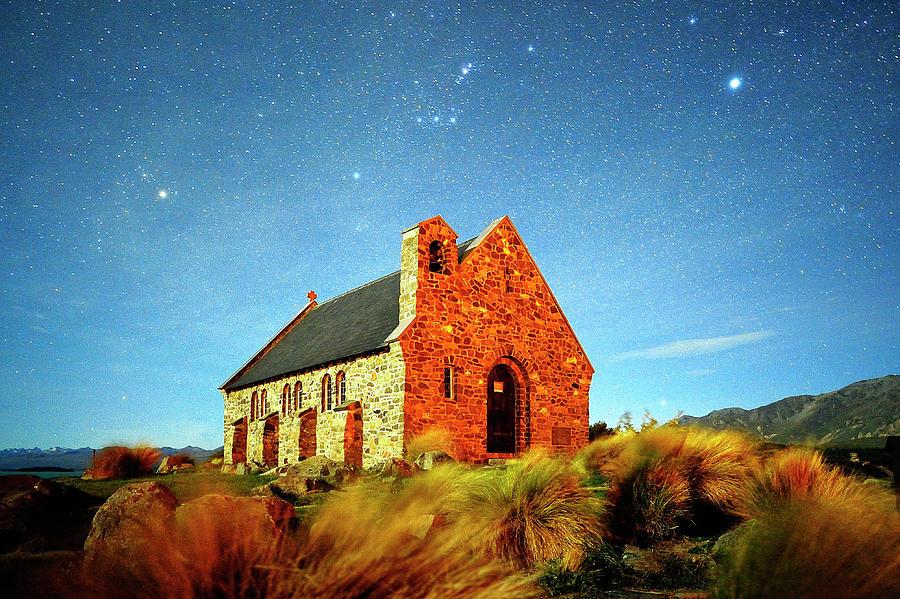 Church On Lake Tekapo Photograph by Atomiczen