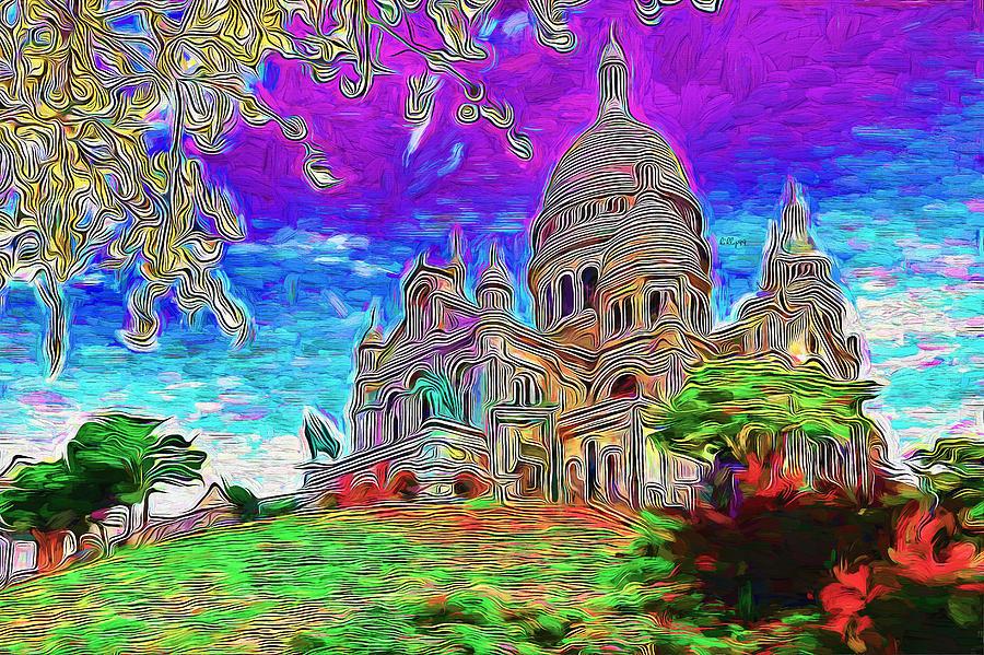 Church On Paris Hill Painting