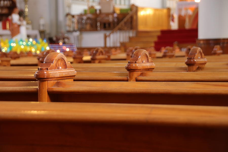 Pews Photograph - Church Pews by Marlin and Laura Hum
