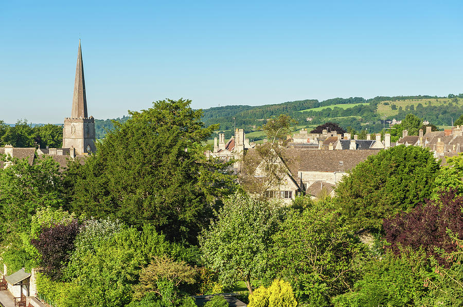Church Spire And Country Homes In Photograph by Fotovoyager