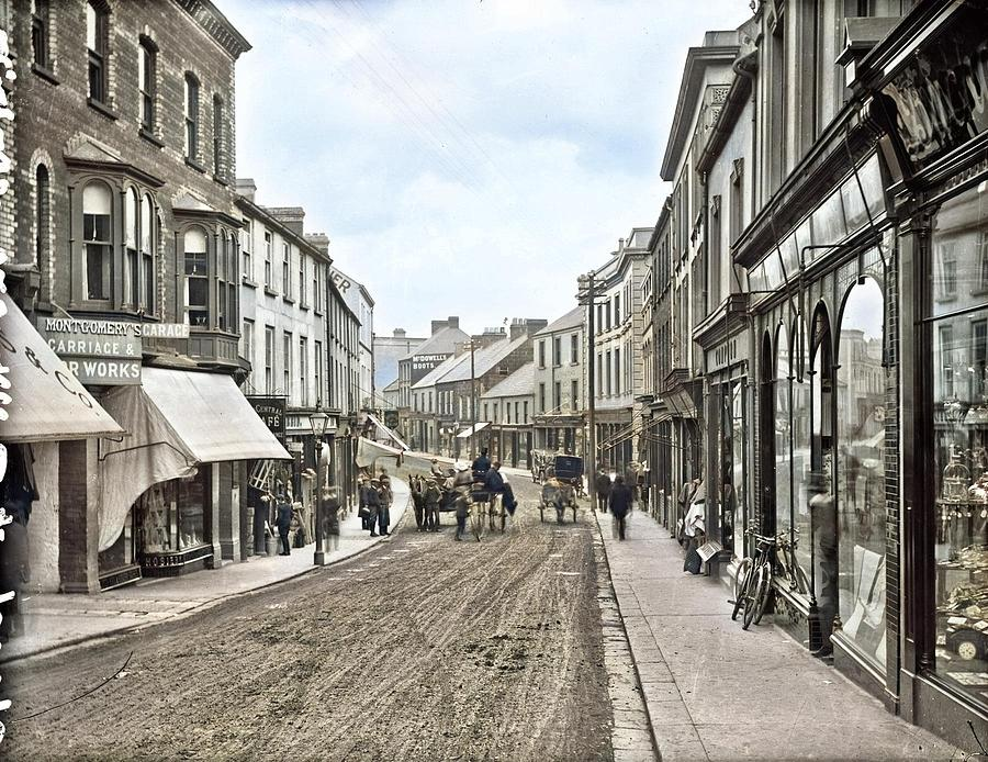 Church Street, Ballymena, Co. Antrim By John Robert French Colorized By Ahmet Asar Painting