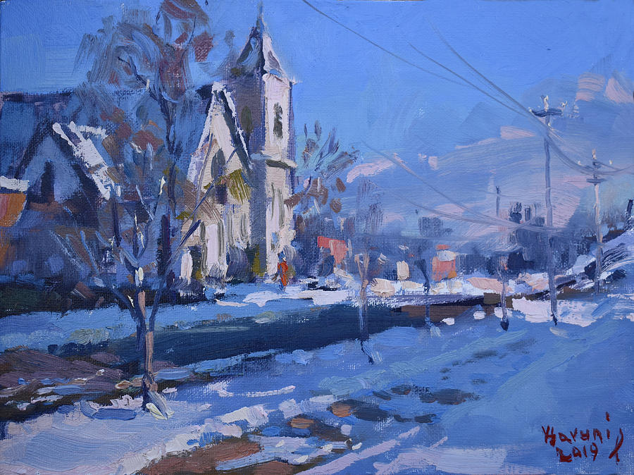 Webster Painting - Churche At Main Str N Tonawanda by Ylli Haruni