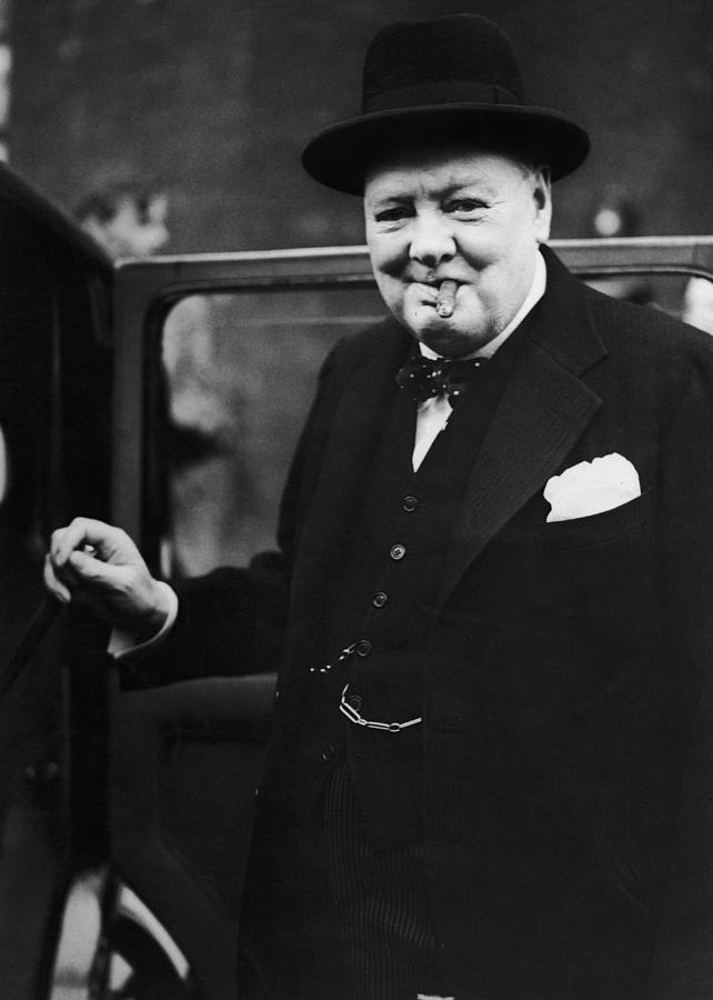 Churchill Resigns Photograph by Keystone
