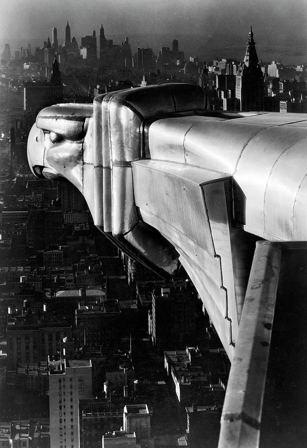 Chysler Building Gargoyle.  Photo By Ma Photograph by Margaret Bourke-white