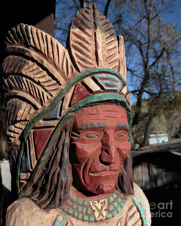 Native Photograph - Cigar Store Indian  by Edward Fielding