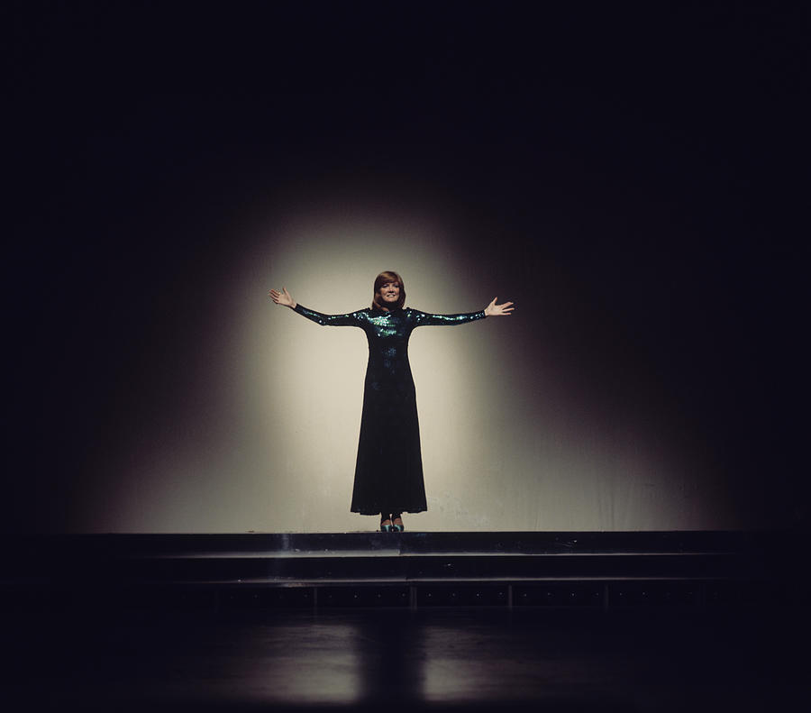Cilla Black Performs On Tv Show Photograph by Tony Russell