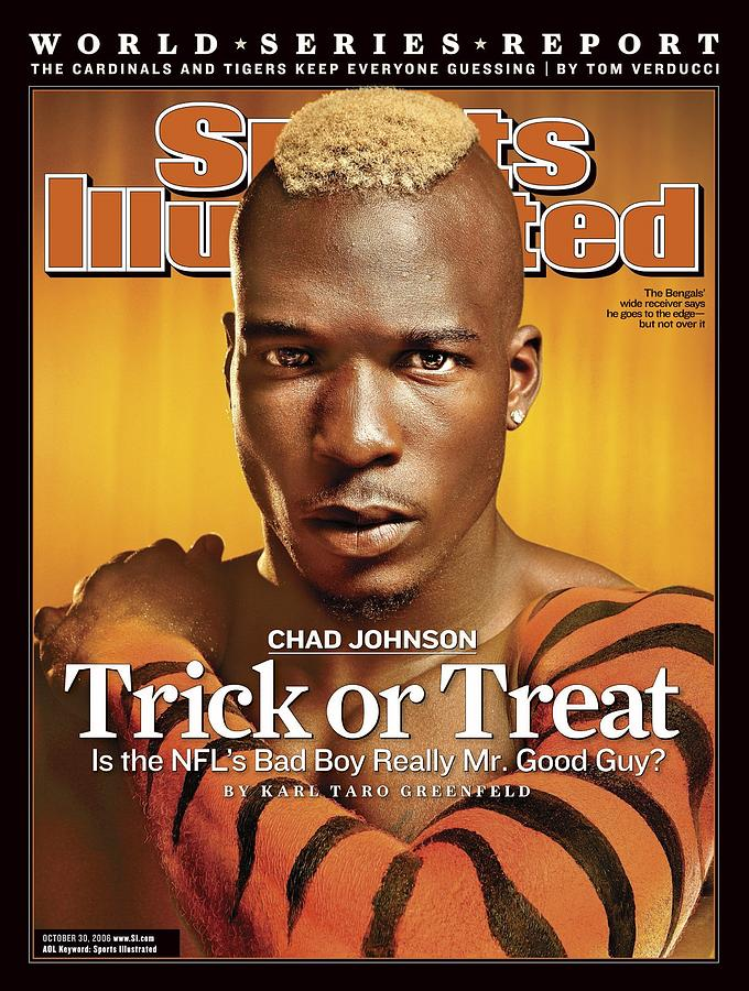 Cincinnati Bengals Chad Johnson Sports Illustrated Cover Photograph by Sports Illustrated