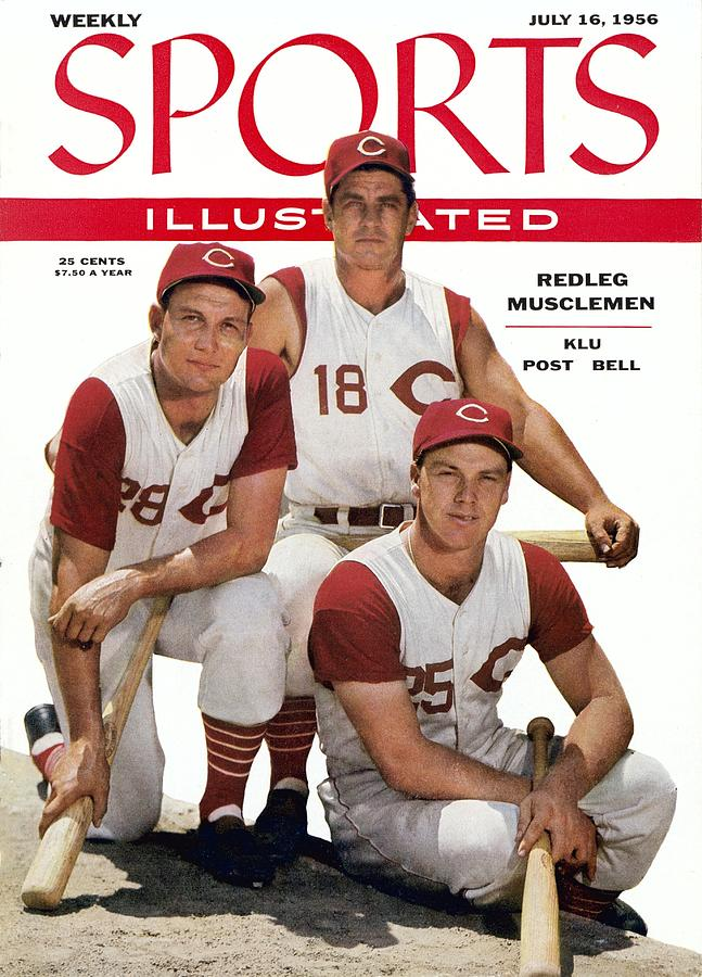 Cincinnati Redlegs Wally Post, Ted Kluszewski, And Wally Sports Illustrated Cover Photograph by Sports Illustrated