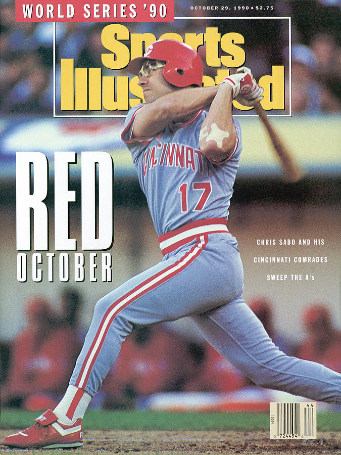 Cincinnati Reds Chris Sabo, 1990 World Series Sports Illustrated Cover Photograph by Sports Illustrated