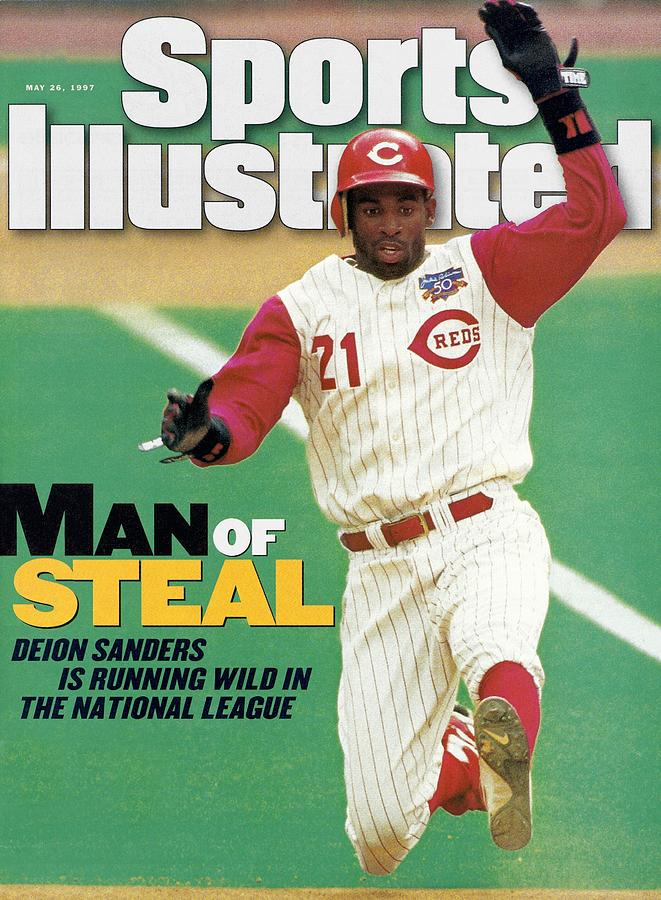 Cincinnati Reds Deion Sanders... Sports Illustrated Cover Photograph by Sports Illustrated