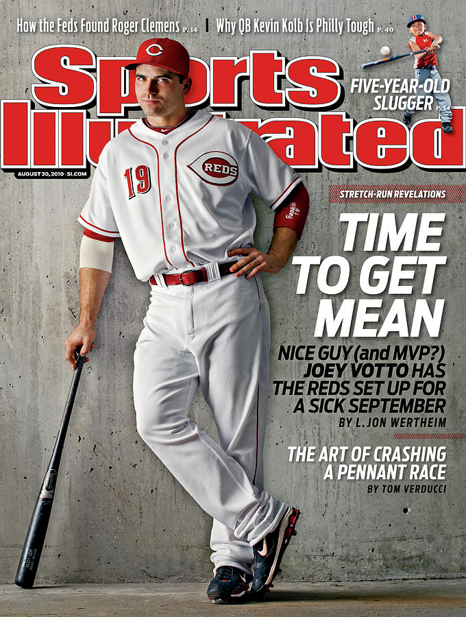 Cincinnati Reds Joey Votto Sports Illustrated Cover Photograph by Sports Illustrated