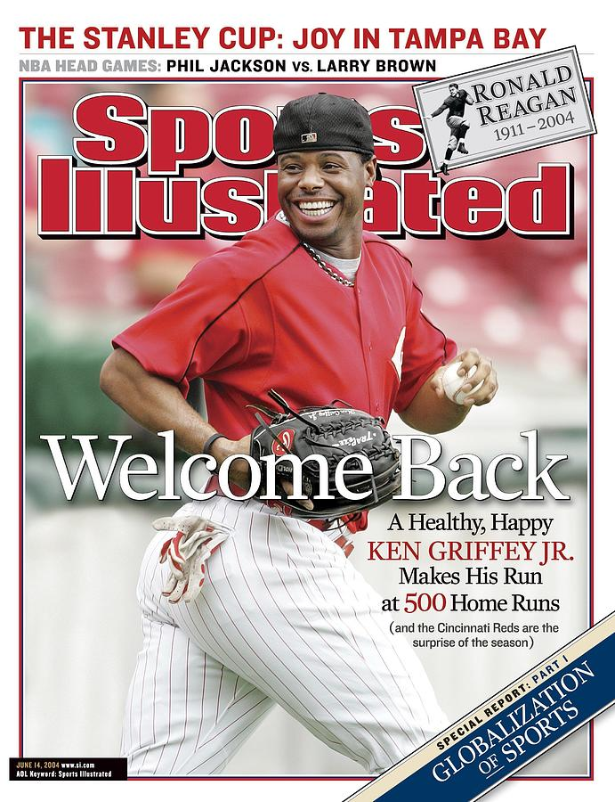 Cincinnati Reds Ken Griffey Jr... Sports Illustrated Cover Photograph by Sports Illustrated