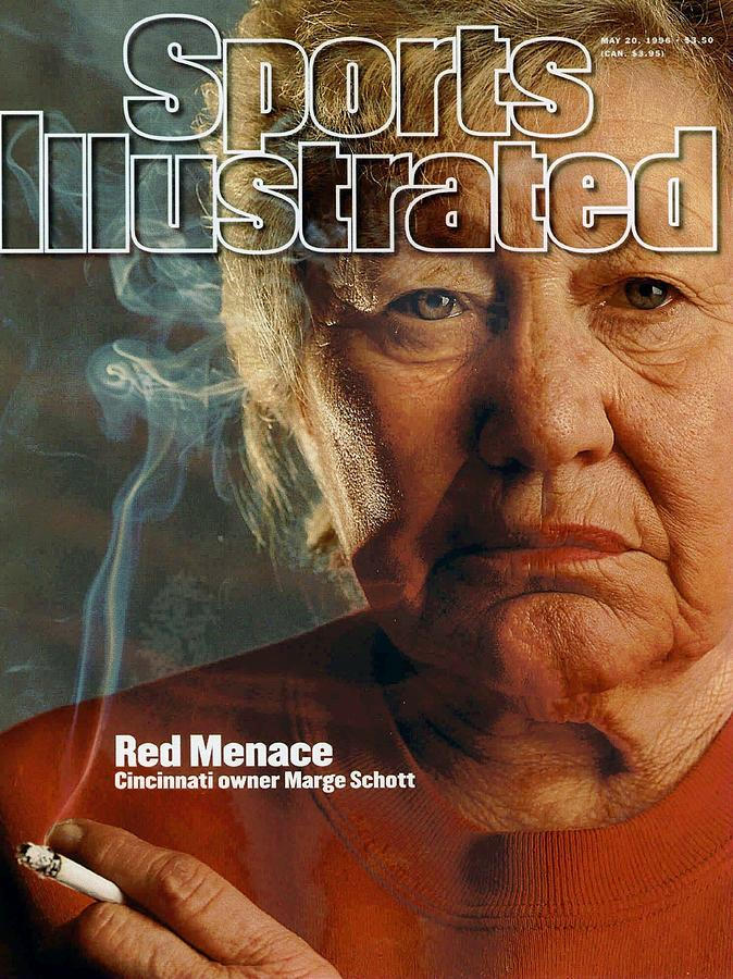 Cincinnati Reds Owner Marge Schott Sports Illustrated Cover Photograph by Sports Illustrated