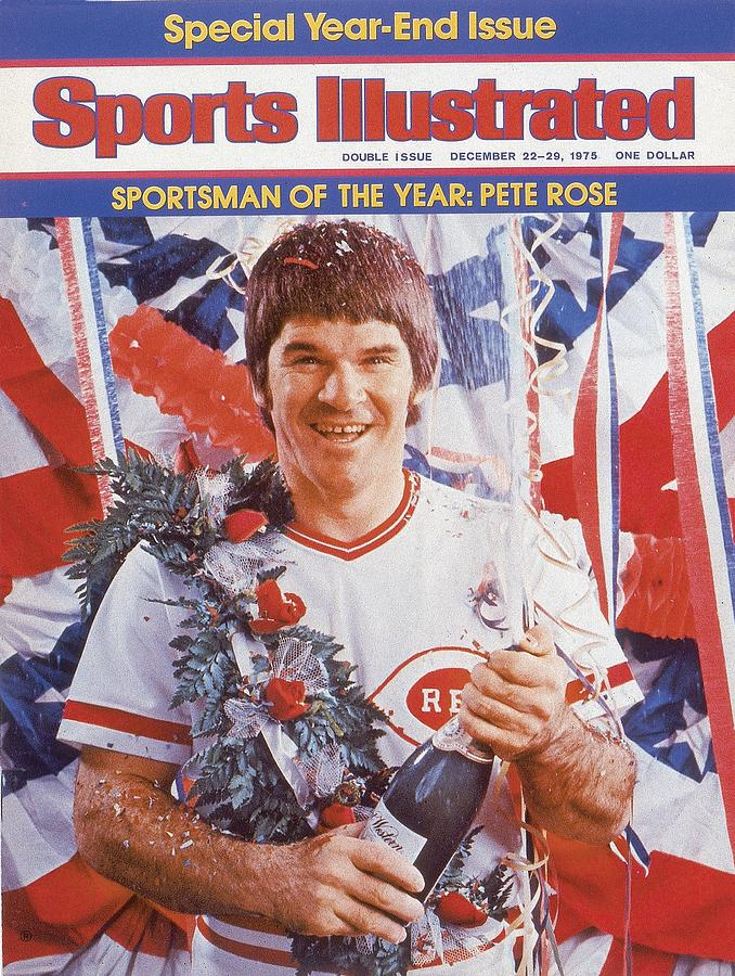 Cincinnati Reds Pete Rose, 1975 Sportsman Of The Year Sports Illustrated Cover Photograph by Sports Illustrated