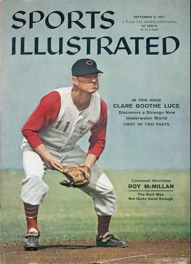 Cincinnati Reds Roy Mcmillan... Sports Illustrated Cover Photograph by Sports Illustrated