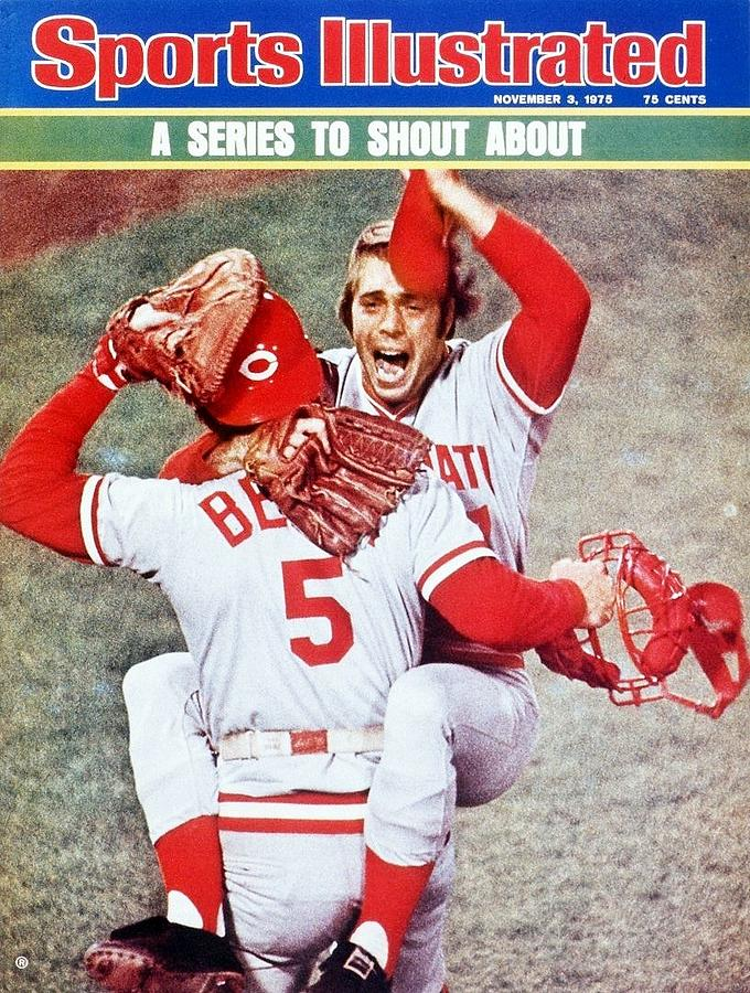 Cincinnati Reds Will Mcenaney And Johnny Bench, 1975 World Sports Illustrated Cover Photograph by Sports Illustrated