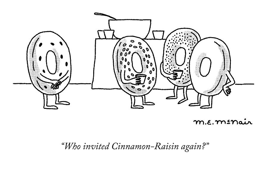 Cinnamon Raisin Drawing by Elisabeth McNair