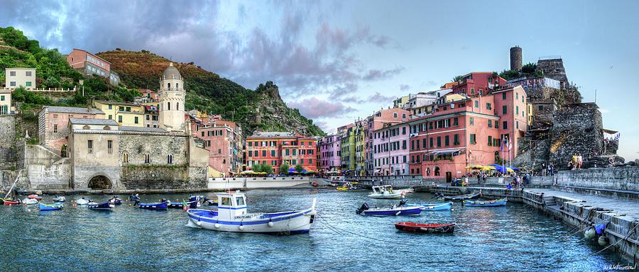 Cinque Terre - Vernazza from the breakwater Medium by Weston Westmoreland