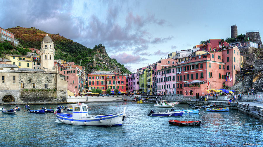 Cinque Terre - Vernazza from the breakwater short by Weston Westmoreland