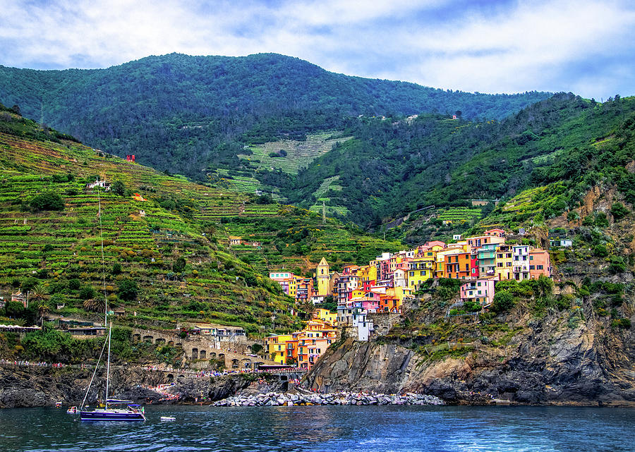Cinque Terre Village of Manarola by Carolyn Derstine