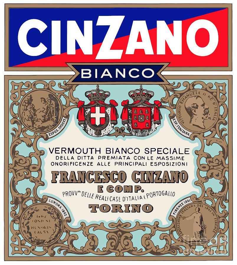 Bianco Digital Art - Cinzano by Studio Poco Los Angeles