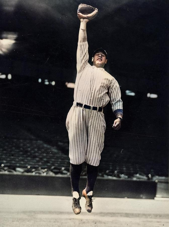 Circa 1925 Lou Gehrig Colorized By Ahmet Asar Painting