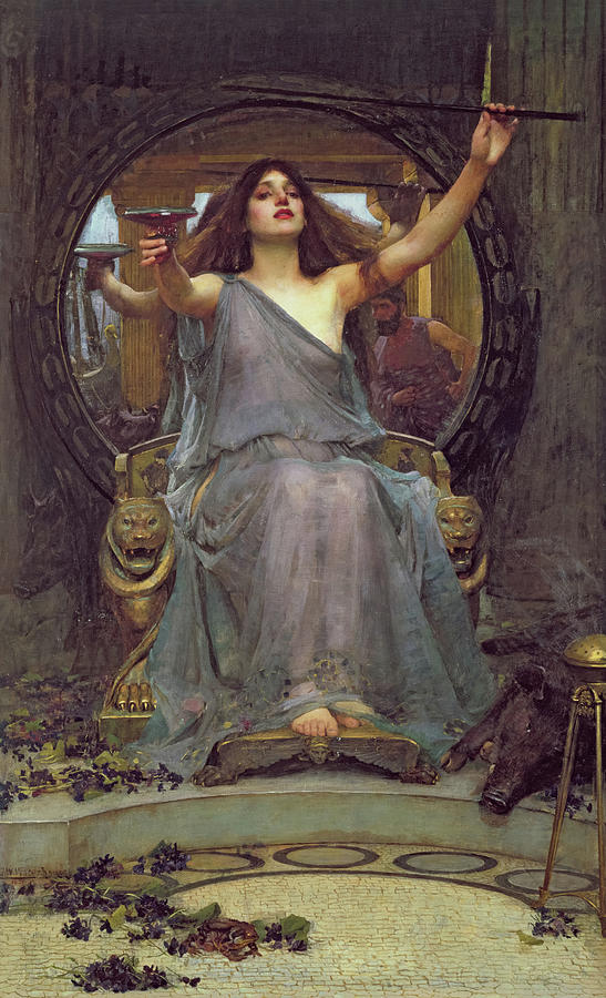 John William Waterhouse Painting - Circe Offering The Cup To Ulysses, 1891 by John William Waterhouse