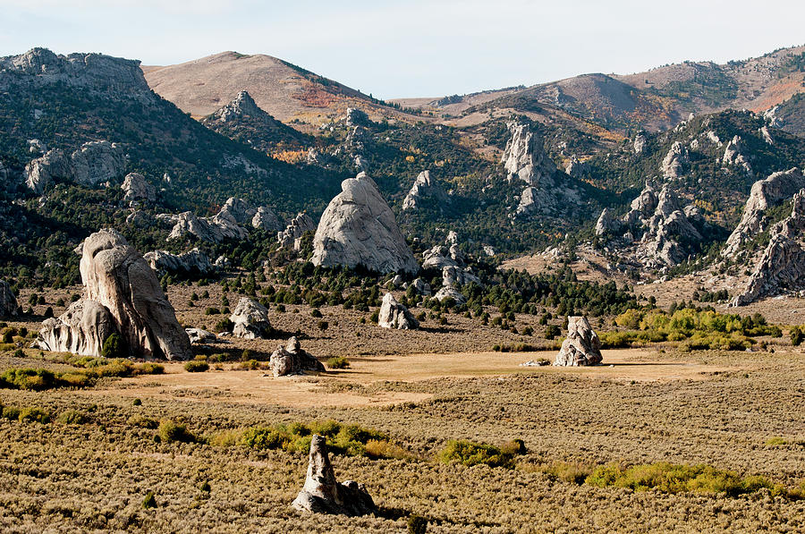 Basin And Range Photograph - Circle Creek Basin In City Of Rocks by William Mullins