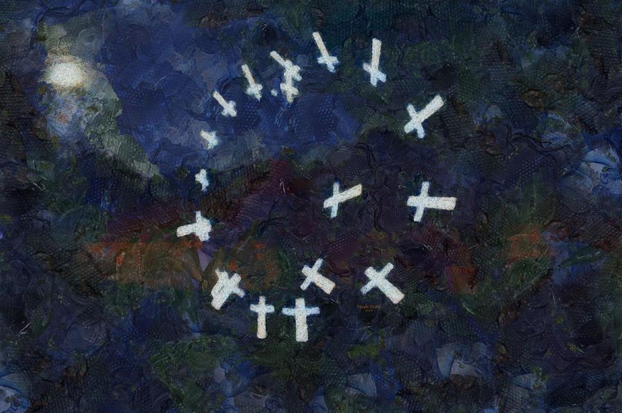 Circle Of Crosses by Trish Tritz
