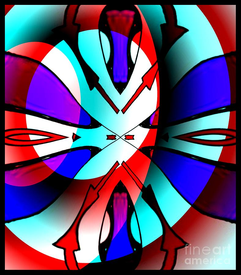 Abstract Digital Art - Circles And Arrows by Graham Roberts