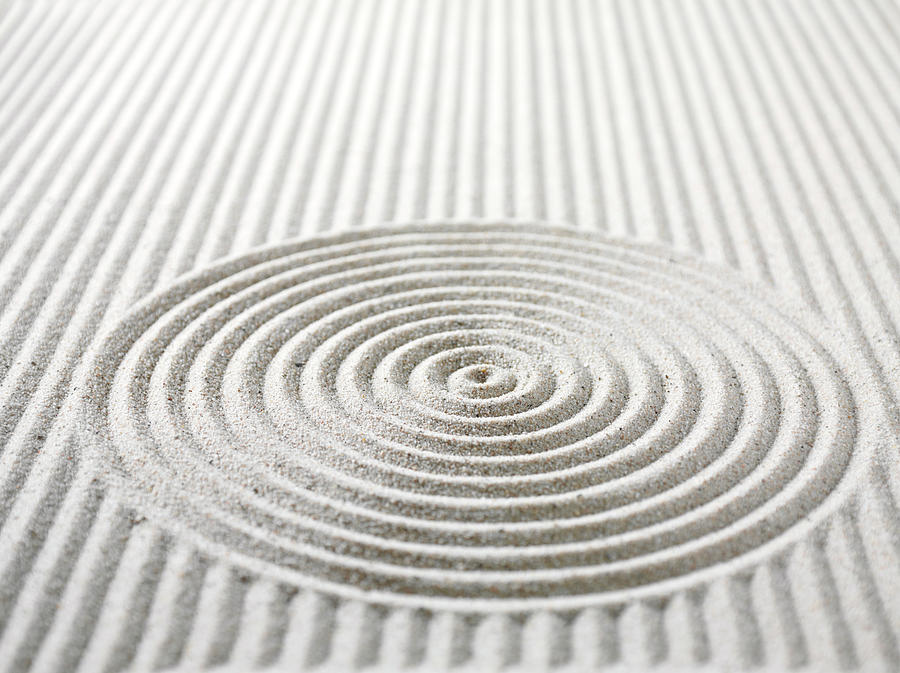 Circles And Lines In Sand Photograph by Wragg