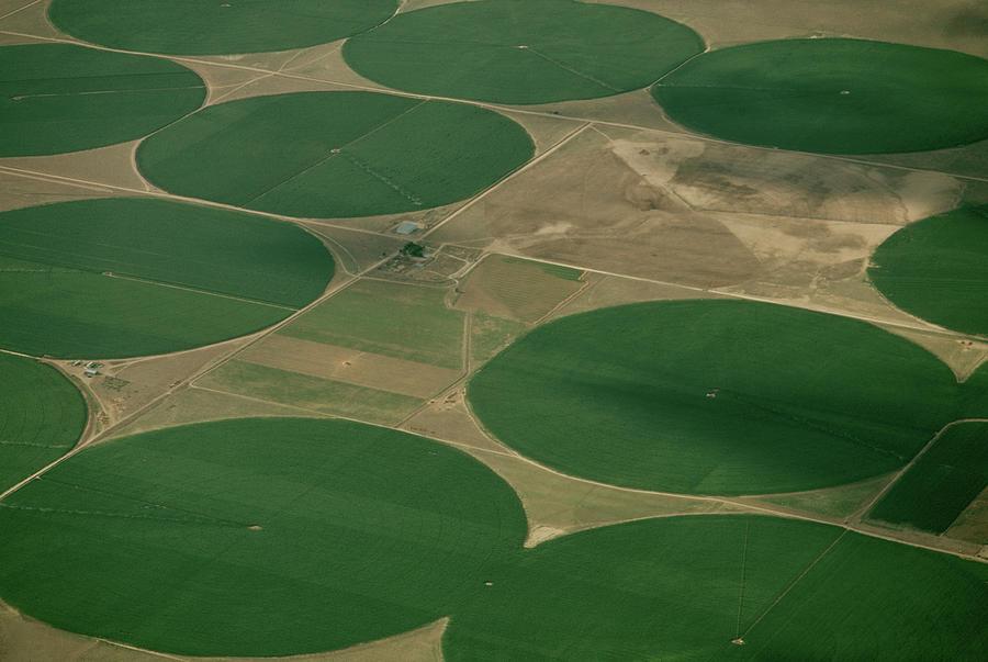 Circular Crop Fields Photograph by James L. Amos