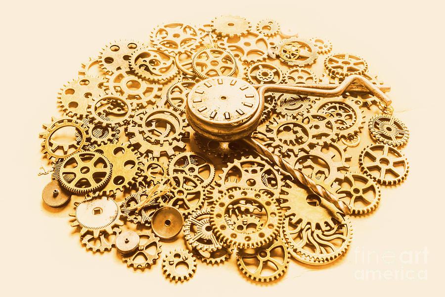 Clockwork Photograph - Circular Mechanics by Jorgo Photography - Wall Art Gallery