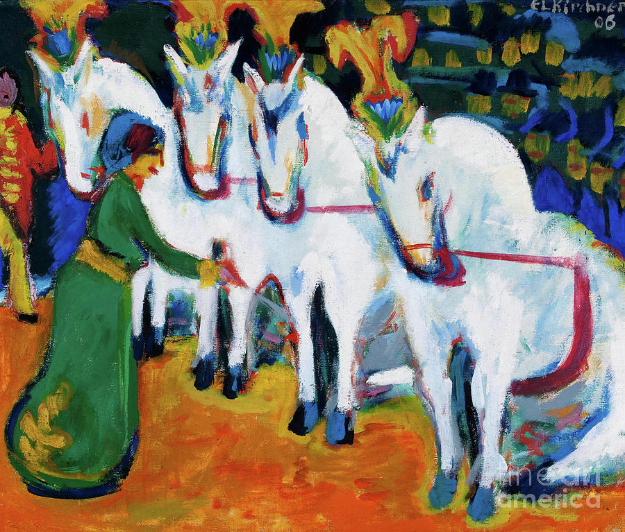 Circus Horses Dressage Drawing by Heritage Images