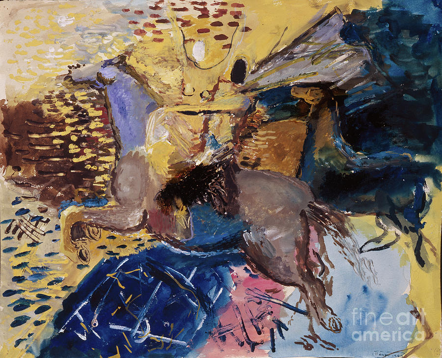 Circus Horsewoman. Artist Yermolayeva Drawing by Heritage Images