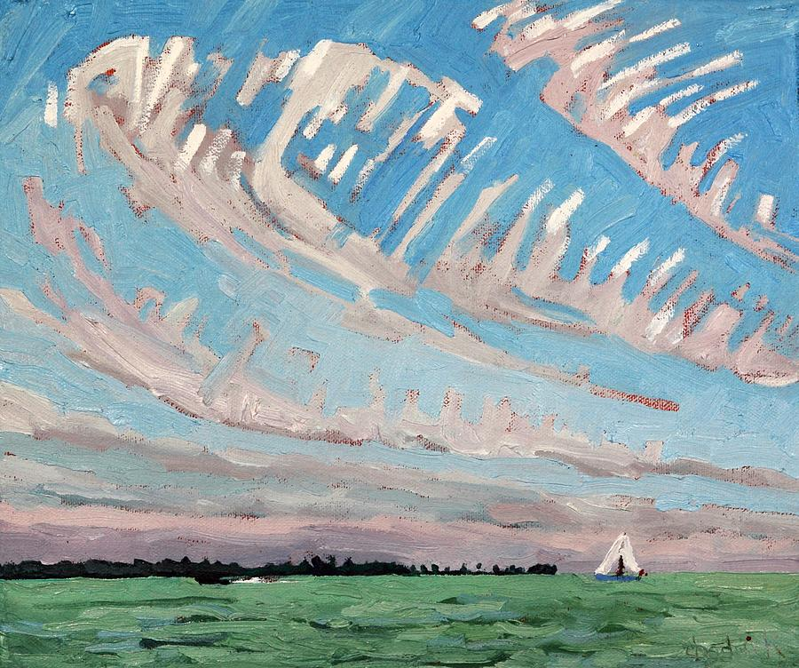 September Painting - Cirrus Sky Stories by Phil Chadwick