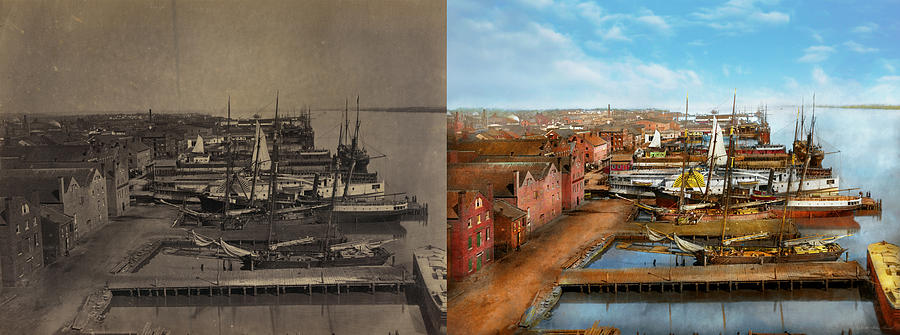 City - Alexandria VA - A view from Pioneer Mill 1865 - Side by S by Mike Savad