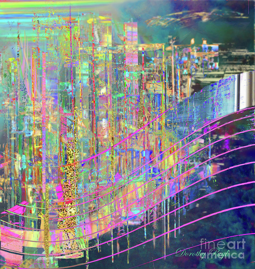 City at Sunset by Dorothy Pugh