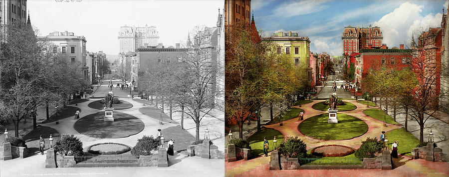 City - Baltimore MD - A walk in the park 1906 - Side by Side by Mike Savad
